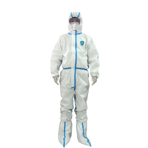 CE Certificated Medical Surgical Waterproof Disposable Protective Clothing Safety Coverall Suit Garment Non Woven Protective Body Suits