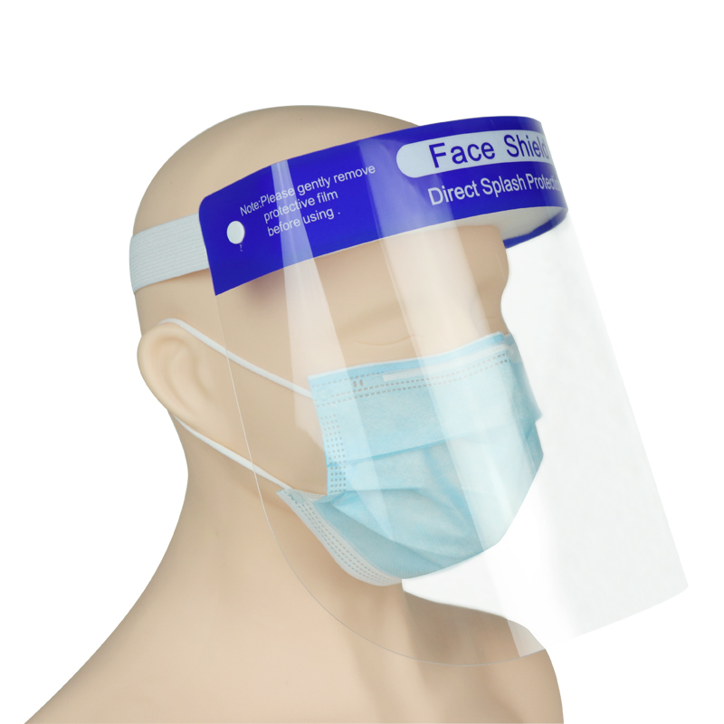 Medical Disposable Plastic Protection Face Shield CE FDA Certificate